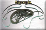 Zirconia belts for airfile sanding